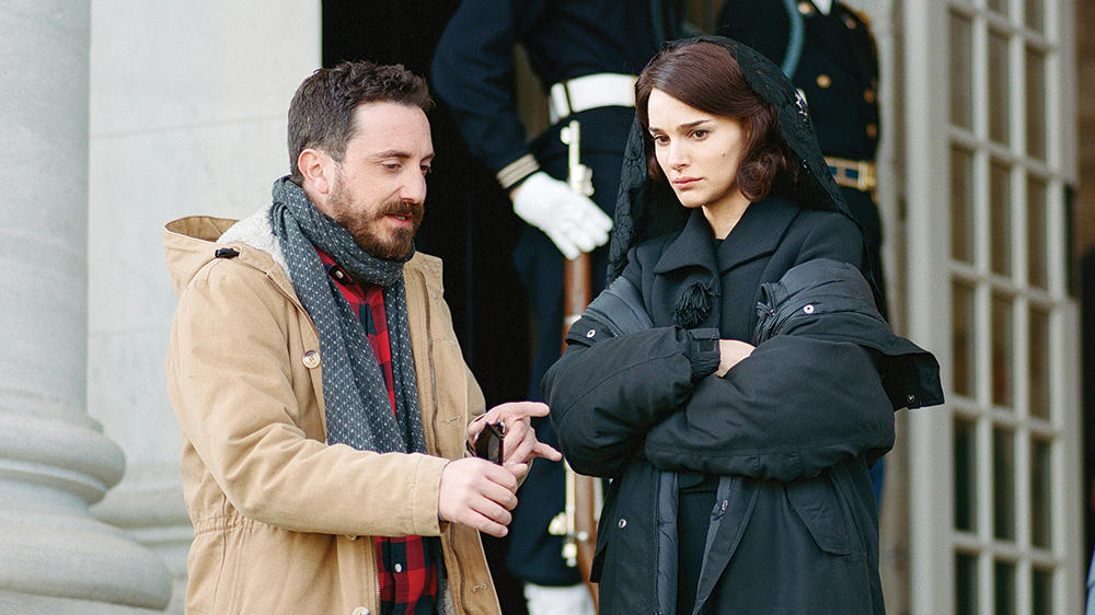 Director Pablo Larrain and Natalie Portman on the set of JACKIE. Photo by Pablo Larrain. © 2016 Twentieth Century Fox Film Corporation All Rights Reserved