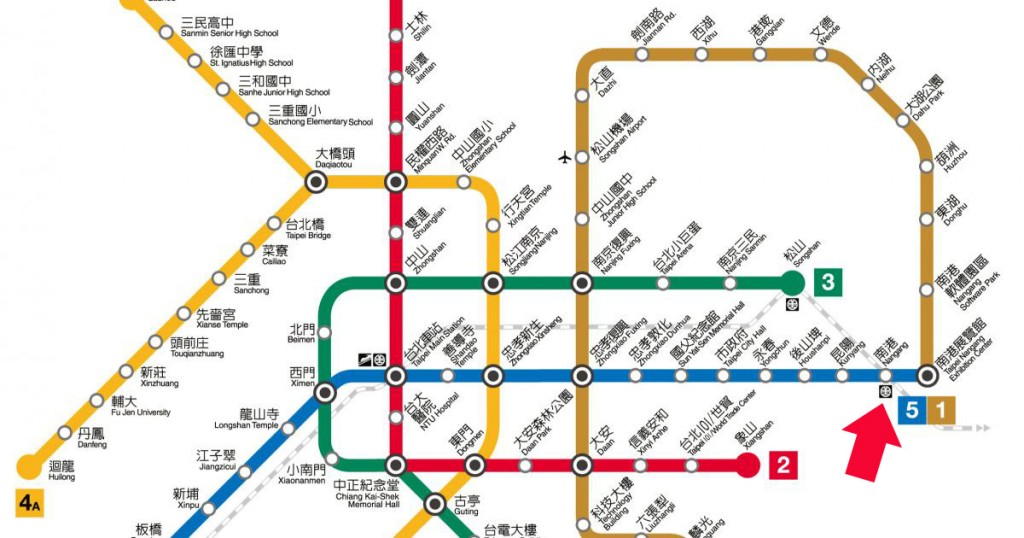 nangang-Taipei_MRT_Subway_Metro_Map